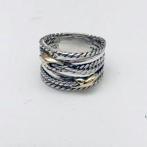 COPY - David Yurman Sz 7 Double X Crossover Ring …